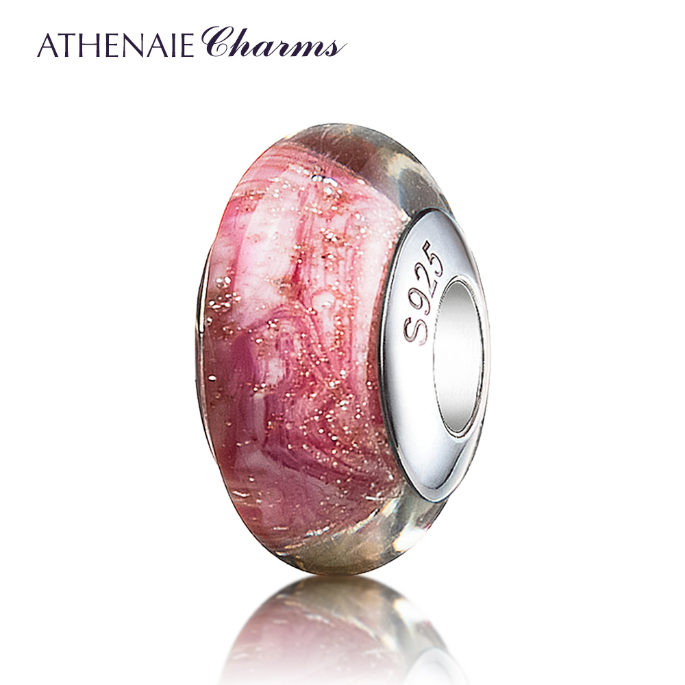 Athenaie italian 925 silver core jinsha concessions for the full use of colorful glass beads transfer beads bracelet to send his girlfriend