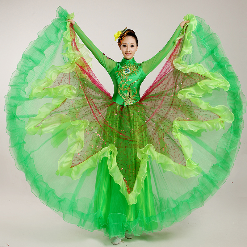 1c171e98f652e Get Quotations · Atmospheric opening dance costumes big skirt opening dance  costume dancers green big skirt dance costume costumes