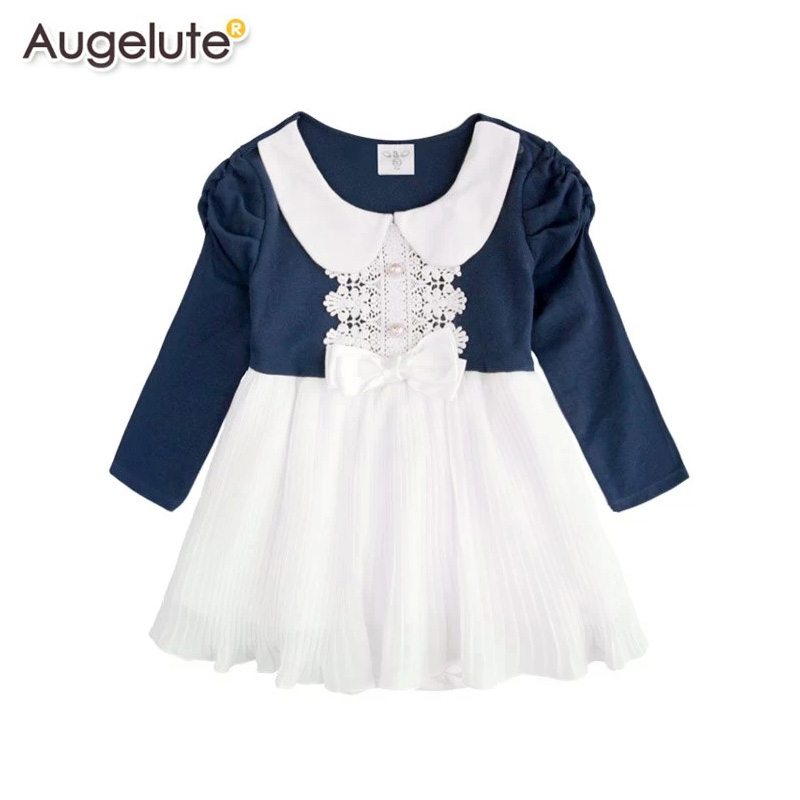 Augelute spring and female baby princess temperament ladies package fart ha skirt baby dress siamese romper 37227