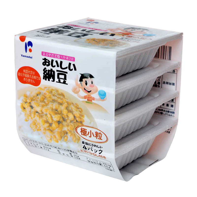 Auspicious fresh imported from japan natto (alexander delicious natto 1 group 4 boxes * 40g) small 120ç²japan Natto