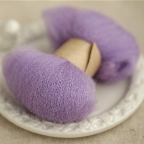 Aussie wool wooden circle purple taro [article] merino wool felt poke fun specials