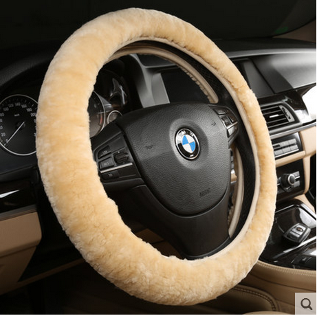 Australia pure wool winter car steering wheel cover super wide 9cm whole skin fur sheep shearing velvet grips
