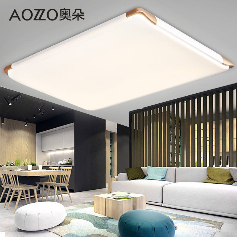 Austrian duo slim led ceiling lights rectangular living room modern minimalist atmosphere of creative lighting lamps 40560