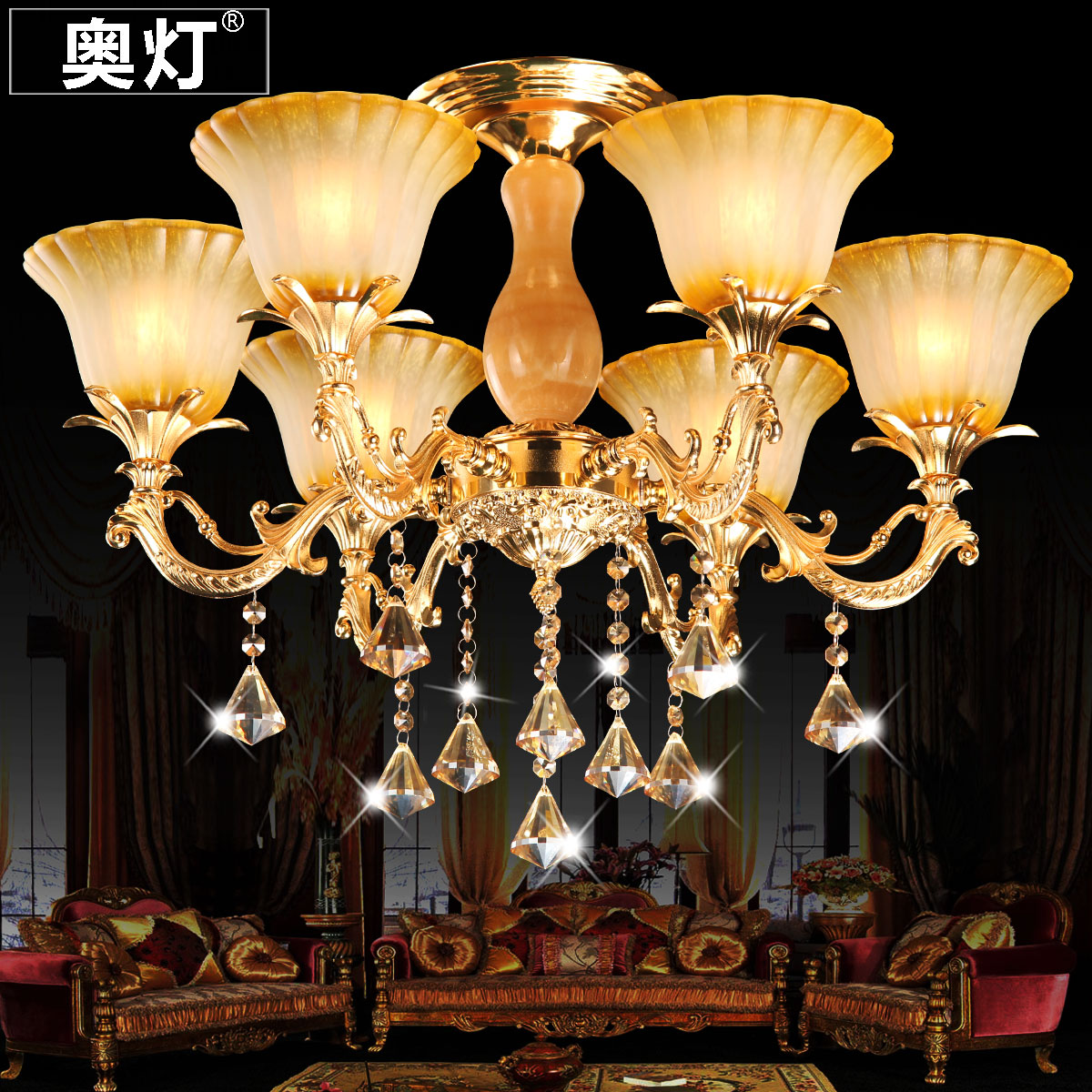 Austrian kirksite euclidian suction chandelier crystal chandelier lamp living room lamp bedroom modern minimalist restaurant lights chandelier suck 9005