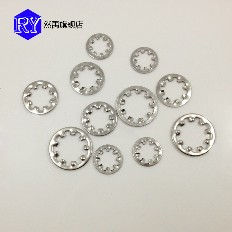 Authentic 304 stainless steel internal tooth/skid pads/slip washer/internal tooth washer m3-m12 series