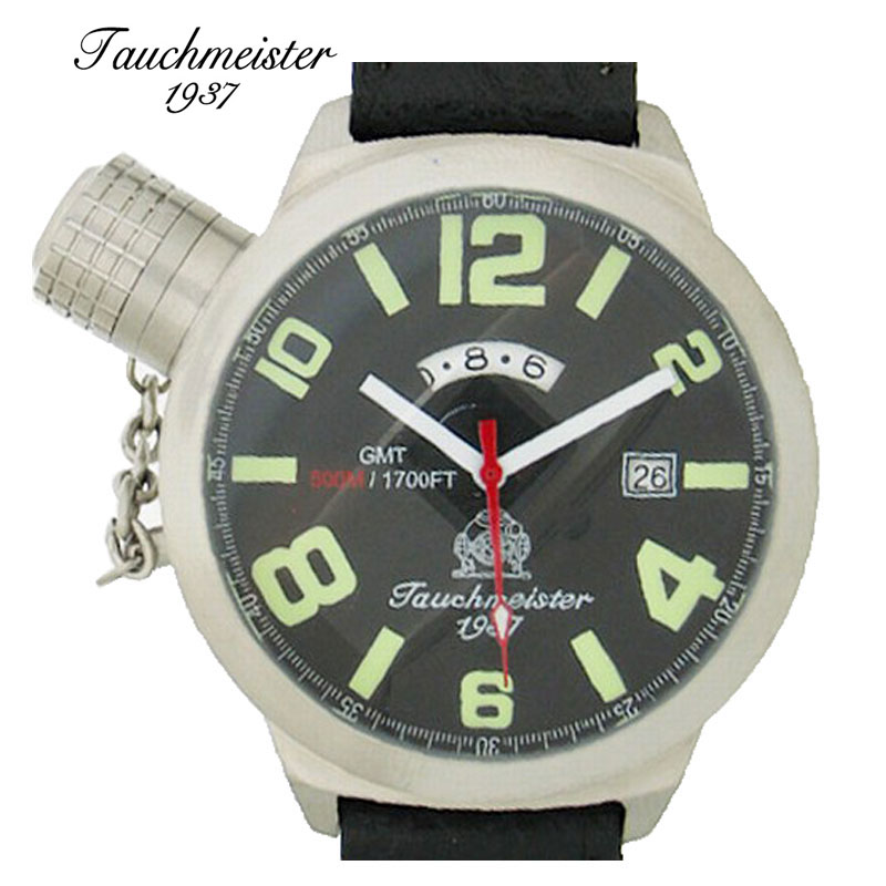 Authentic german tauchmeister 1937 authentic t0067 series watch men's watches diving watch