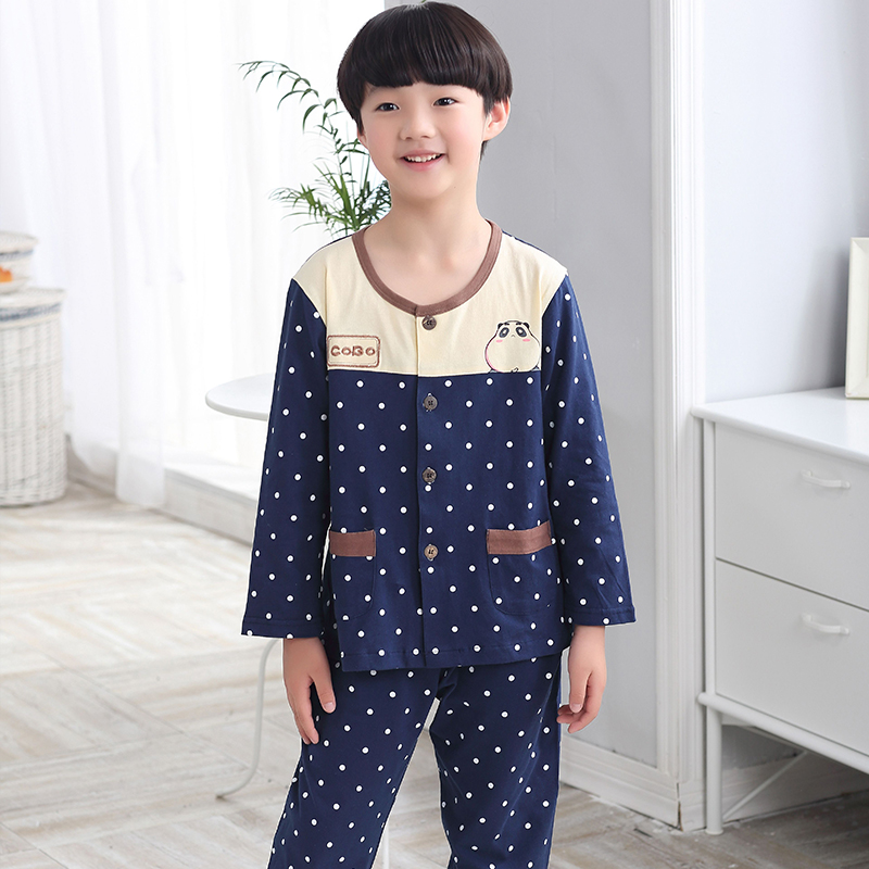 Autumn and winter children's pajamas kids tracksuit suit boys spring and autumn girls cotton long sleeve pajamas kids pajamas suit