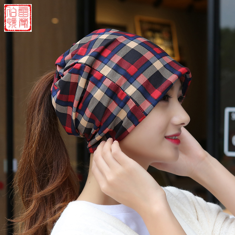 bde2753bf04 Get Quotations · Autumn and winter hedging dual hat scarf cap hat female  korean tidal multi ear cap baotou