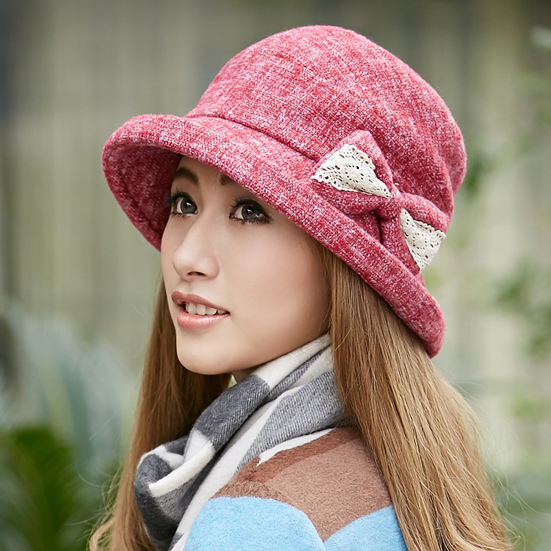 1610d5bf0f017 Get Quotations · Autumn and winter large brimmed hat topped ms. warm wool fedora  hat bucket hats korean