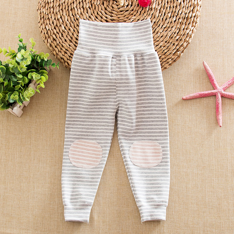 Autumn baby care belly waist pants spring and autumn baby leggings qiuku children's underwear umbilical care belly pants pants clothes