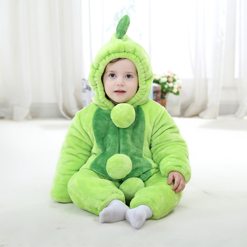 Autumn baby clothes newborn baby coveralls thick winter clothes for men and women clothing cotton baby romper warm