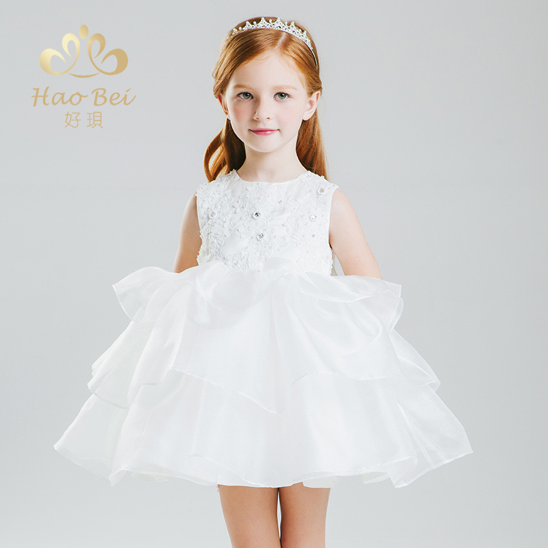 Autumn girls child princess dress tutu skirt moderator dress birthday dress banquet evening dress costumes piano