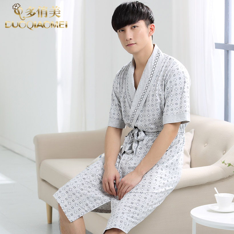 76ae426470 Get Quotations · Autumn men s pajamas and long sections in spring and autumn  male models japanese kimono robe bathrobe