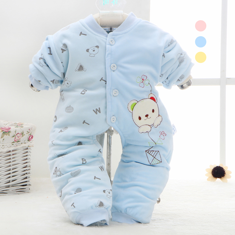 Autumn thin cotton romper newborn male and female baby baby coveralls climbing clothes out of cotton clothing for months