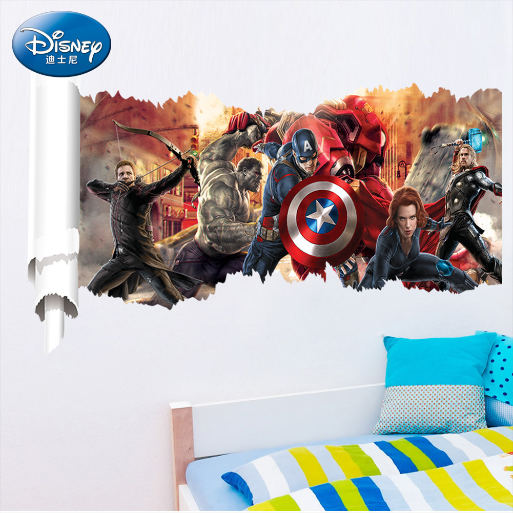 Avengers wall stickers living room bedroom background wall decoration wall stickers children's room wall decoration wall stickers