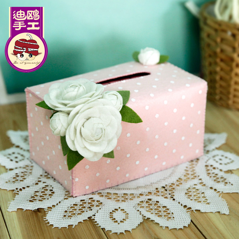 Avoid cutting camellias bottomless paper tissue pumping paper drawn box sets di gull di y handmade cloth material package