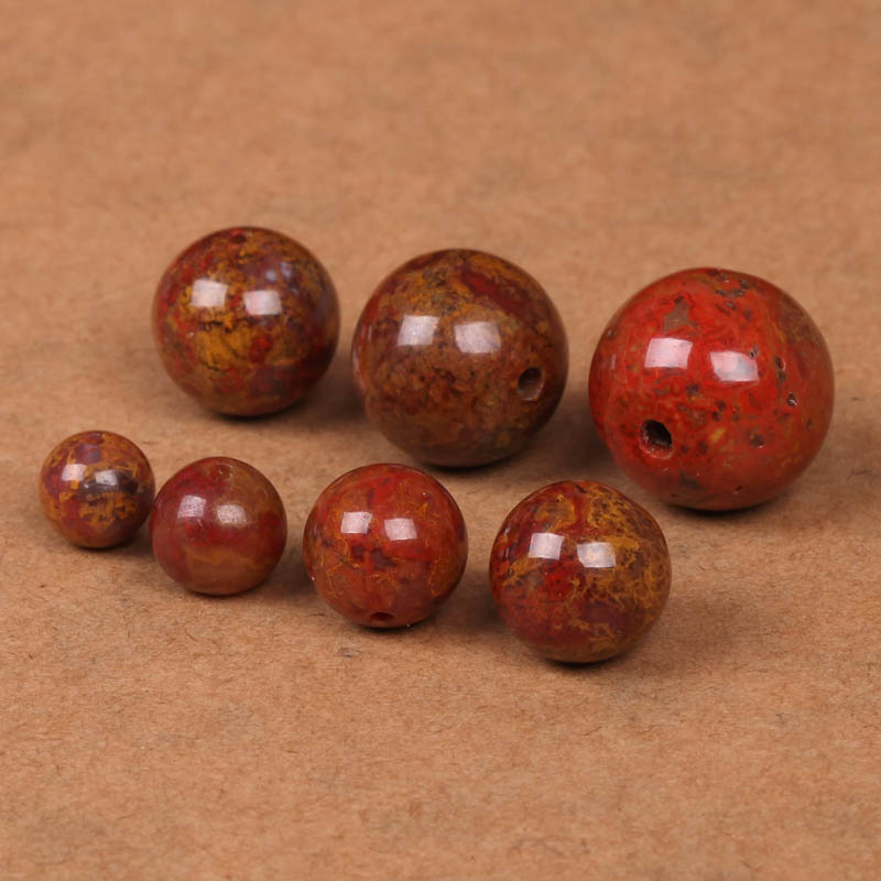 Awe crystal 6-11mm 14MM sengoku natural red agate loose beads spacer beads diy man playing with beads jewelry accessories