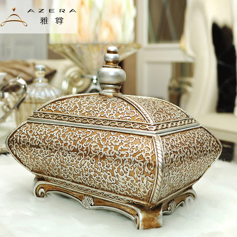 Azera european vintage jewelry box storage box creative fashion home decoration ornaments creative wedding gift decoration