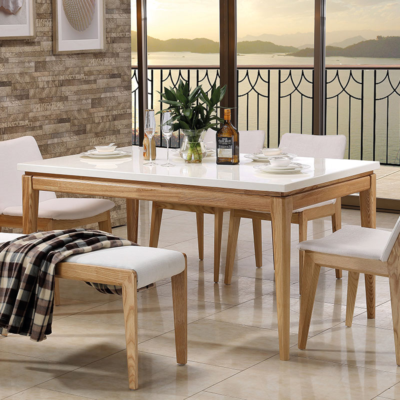 Beautiful Get Quotations · Babi Sen Nordic Nordic Small Apartment Minimalist Dining  Table Dinette Combination Of Solid Wood Dining Furniture