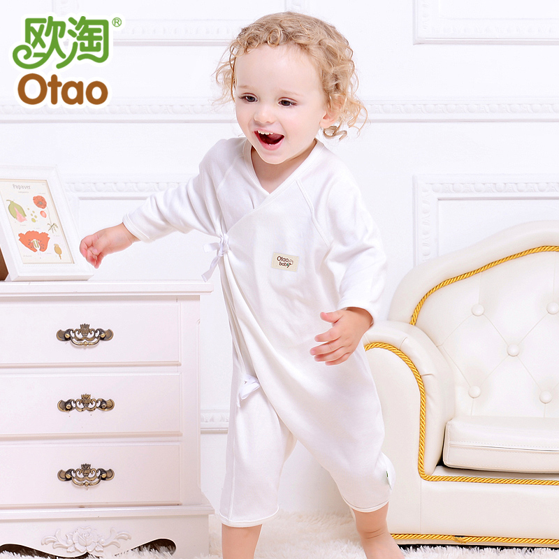 Baby coveralls spring and autumn clothes newborn female baby cotton leotard romper climbing clothes plus thick autumn and winter pajamas 0--3 months