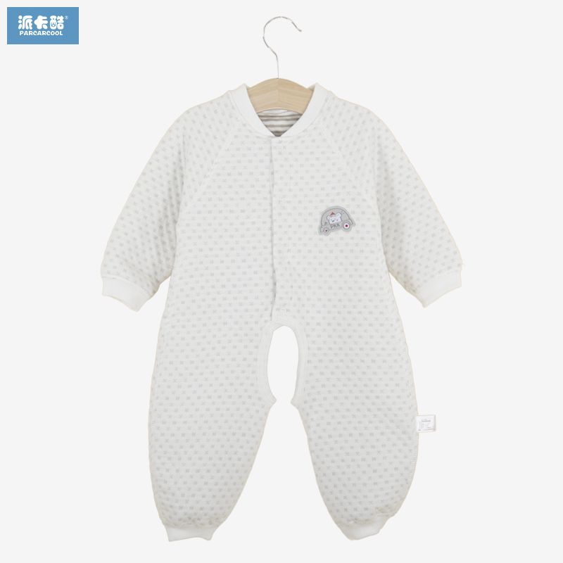 Baby long sleeve leotard spring newborn baby clothes baby winter warm cotton crotch leotard romper climbing clothes
