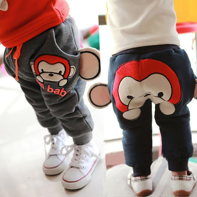 Baby winter pants baby boy pants trousers for boys and girls winter plus thick velvet warm pants 0-1-2-3-4-year-old