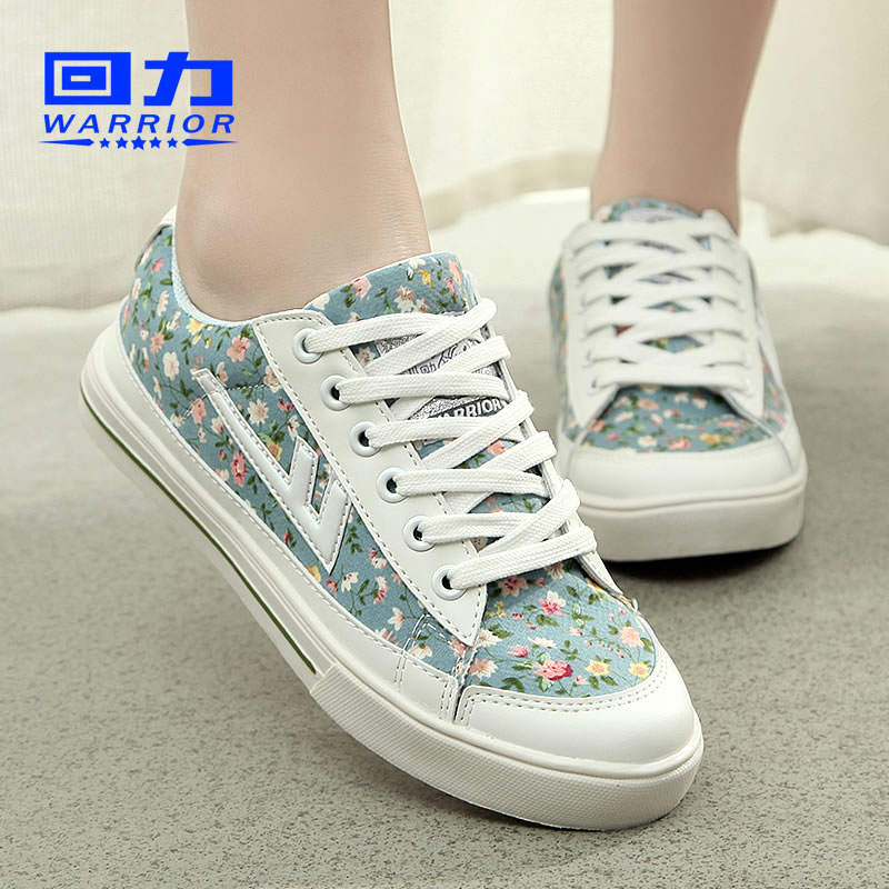 Back in 2016 summer new floral canvas shoes women casual sports shoes student shoes to help low female shoes