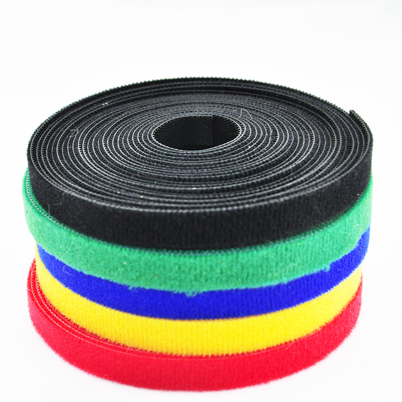 Back to back velcro cable ties tie line with cable management tie line with the beam line with snap button 2 CM 5 m/ Package