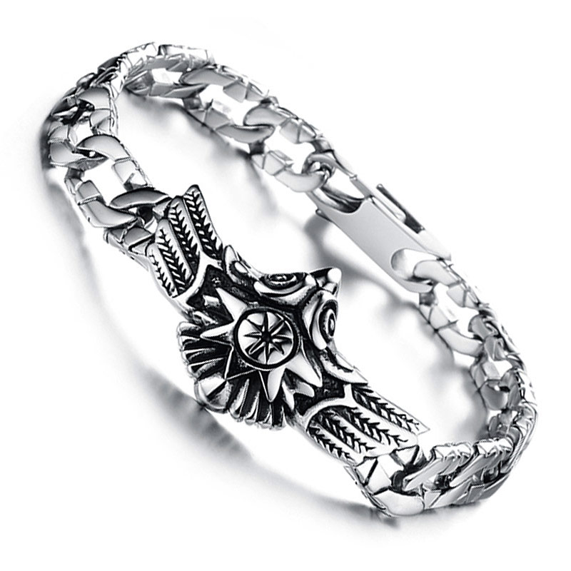Bahamut titanium steel men's jewelry jewelry bracelets men domineering men's fashion trend fashion personality falcon