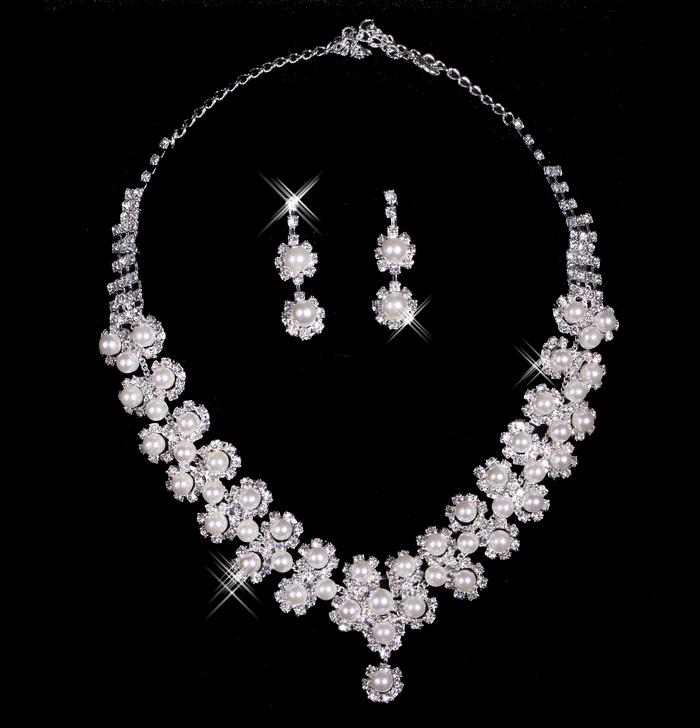 Bai approximately necklace bridal necklace earring piece bridal jewelry accessories xl11010