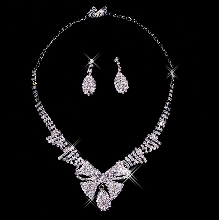 Bai approximately necklace bridal necklace earring piece bridal jewelry accessories xl11021