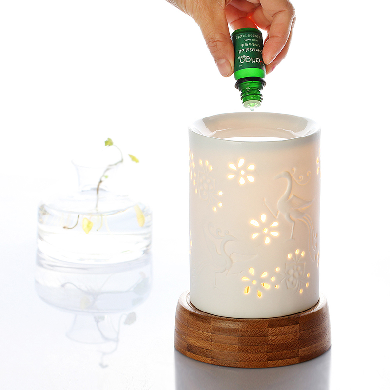 Bai di gao flesh incense vaporizer ceramic fragrance lamp oil lamp with adjustable switch to send oil