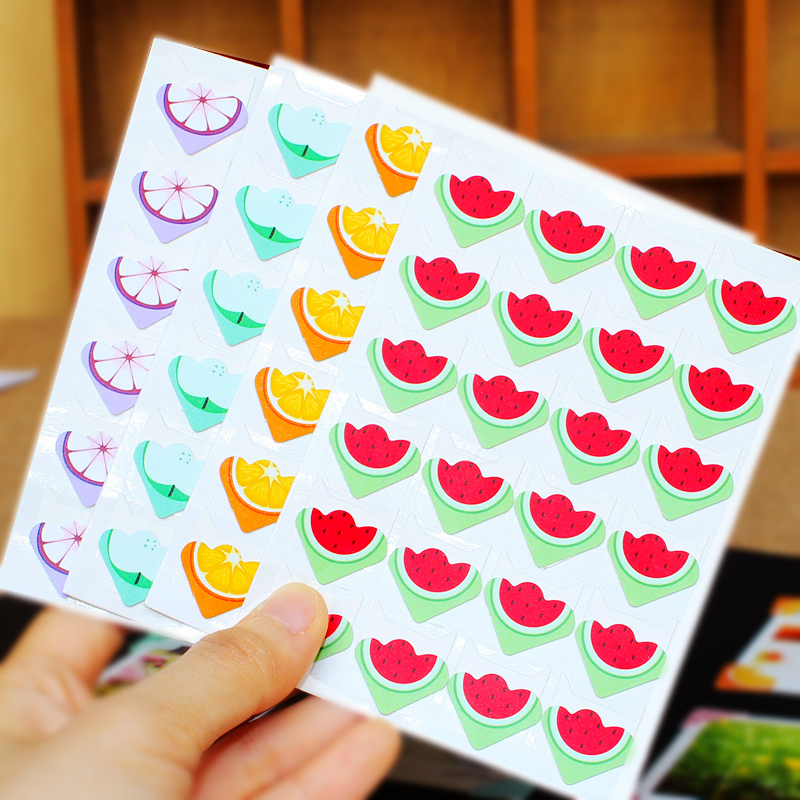 Bai美年华fruit handmade diy album corner stickers fixed paste diy photo album album album accessories corner stickers affixed angle