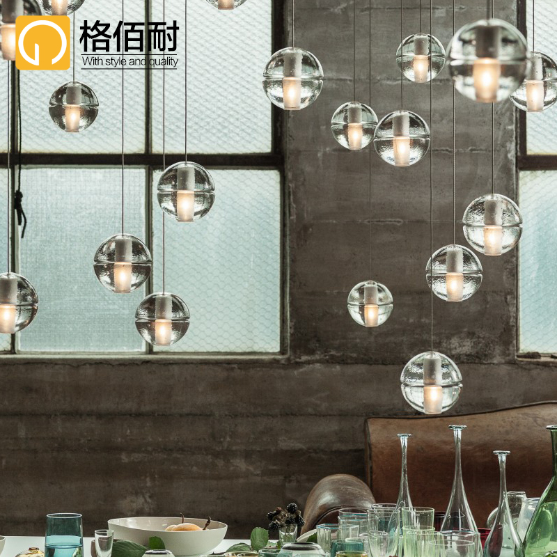 Bai gretl resistant crystal planet chandelier bar hall hail meteor shower glass chandelier chandelier led chandelier personality