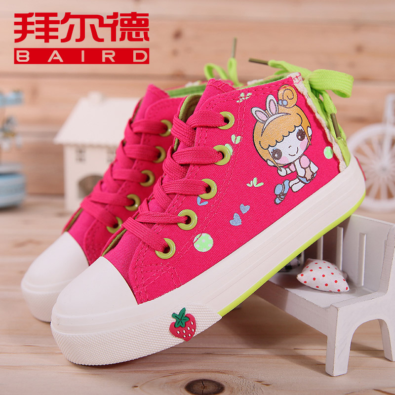 Baird high to help children canvas shoes women shoes cute shoes shoes canvas shoes korean tidal spring and autumn paragraph