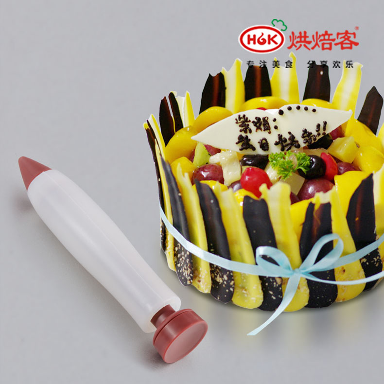 Baking tools silicone chocolate pen food writing pen cake decorating pen pen cake baking bread