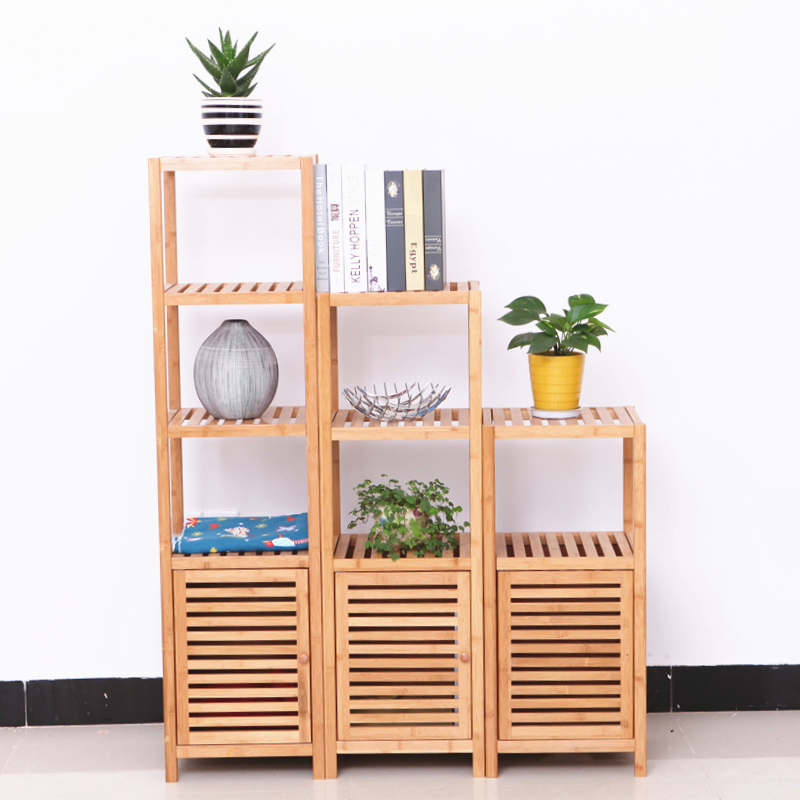 Bamboo bathroom shelf bathroom shelf storage rack horse bucket floor corner shelf corner shelf wood special offer free shipping