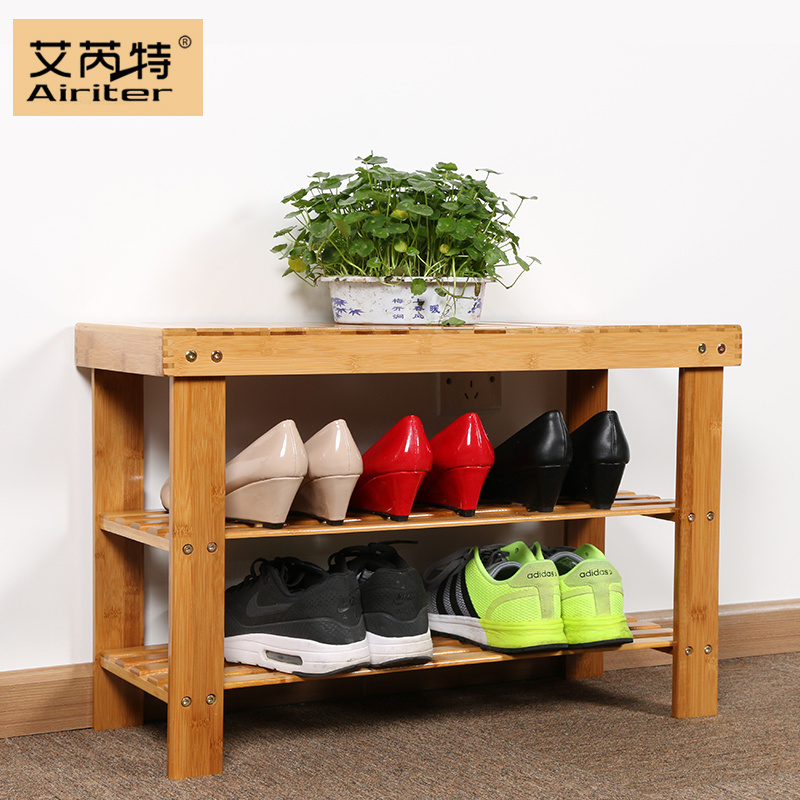 Bamboo door huanxie his shoes storage stool stool multifunctional storage multilayer shoe bamboo wood modern minimalist specials