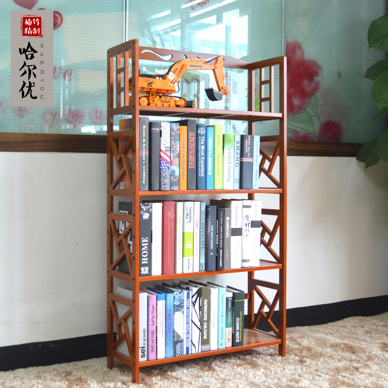 Get Quotations Bamboo Wood Bookcase Desk Retro Practical Shelving Shelf Storage Rack Simple Creative Combination With