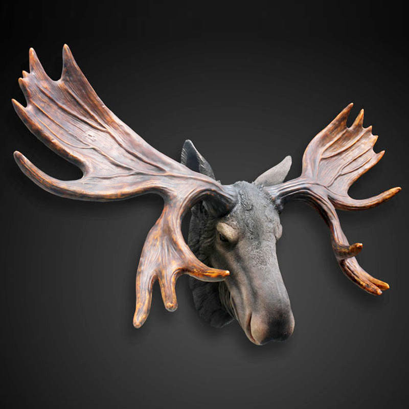 Bar creative home decorations deer wall hangings decorative wall living room wall decoration wall hangings european retro coffee shop