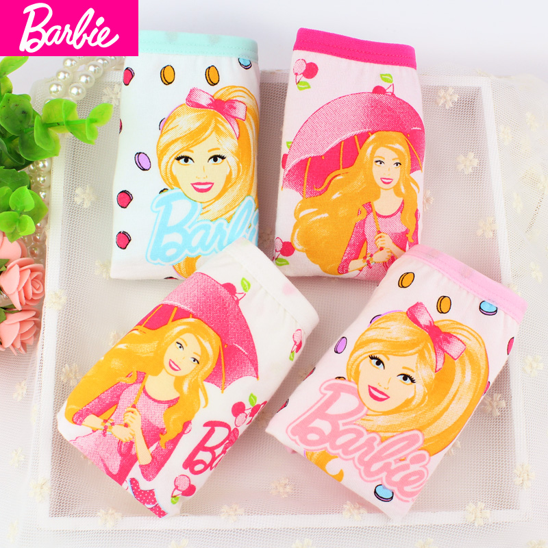 Barbie children's underwear girls cotton boxer briefs pants zhongshan university tong xuesheng girls treasure treasure underwear article 4