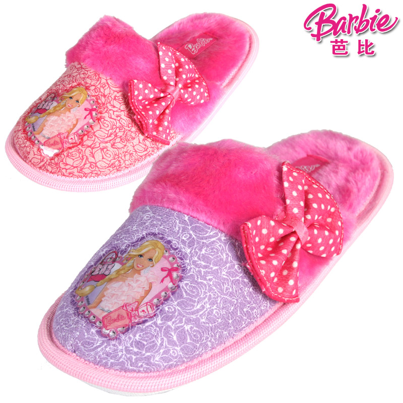 Barbie girl children cotton slippers warm slippers cotton slippers cotton slippers winter home interior home floor slip slippers