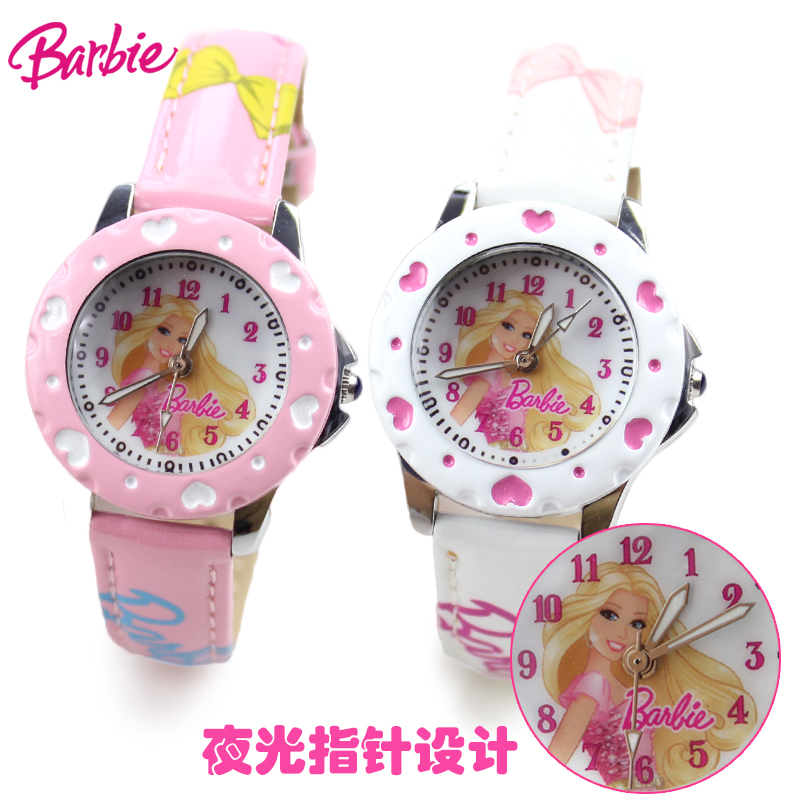 Barbie girls luminous watches fashion students electronic watch cartoon watch cute cartoon princess children