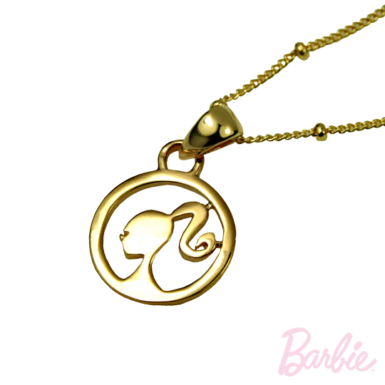 [Barbie] round barbie silhouette necklace payeasy official website direct mail