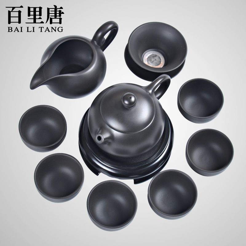 Barry tang boutique ore entire kung fu tea set yixing yixing tea set and a half handmade tea pot gift box