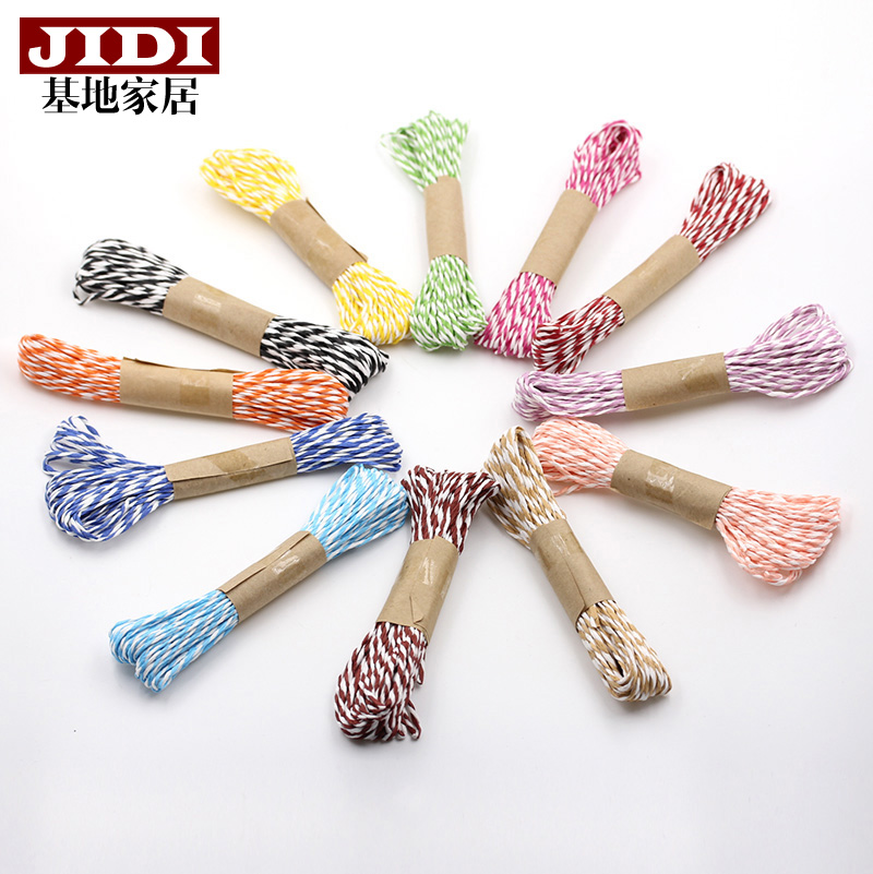 Base color striped double strand di  y nursery handmade knitting zhisheng paper rattan paper flowers paper art craft materials