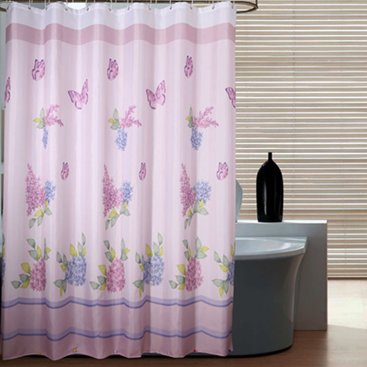 Bathroom bathroom shower curtain fabric shower curtain bathroom shower curtain mildew thick waterproof polyester fabric shower curtain curtains
