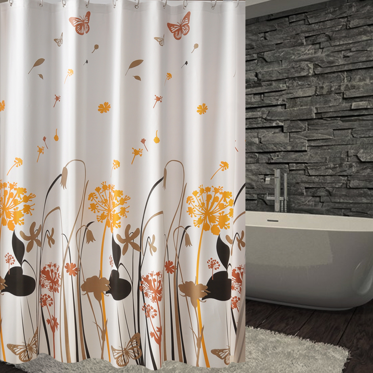 Get Quotations · Bathroom Shower Curtain Fabric Shower Curtain Mildew  Waterproof Bathroom Shower Curtain Partition Curtain Curtains Hanging  Curtain