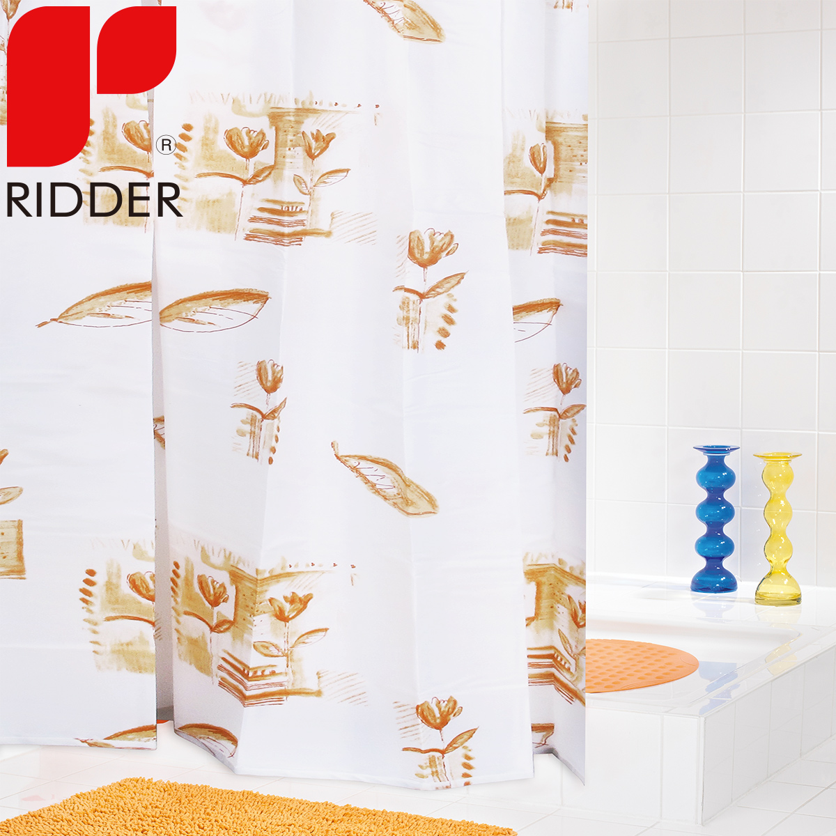 Bathroom shower curtain fabric shower curtain thick waterproof polyester shower curtain european ridder darvin retro 46353
