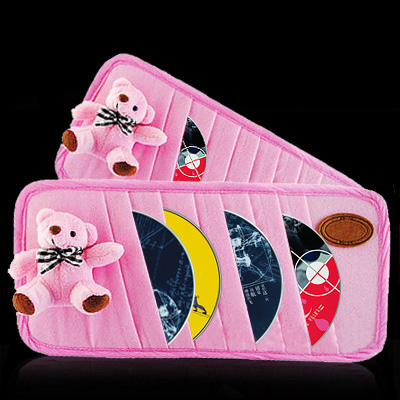 Bear cd car visor clip set with cd folder chartered car cd cd clip clip multifunction cd folder automotive supplies
